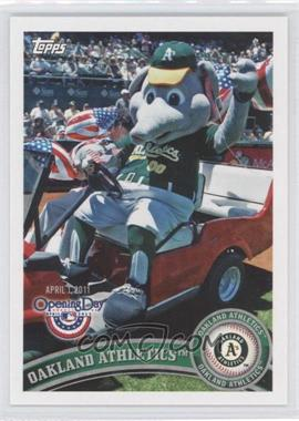 2011 Topps Opening Day Mascots #M-16 - Oakland Athletics Team