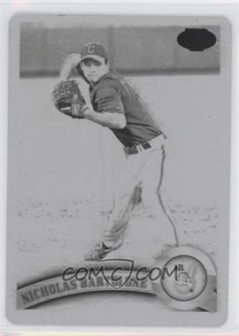 2011 Topps Pro Debut Printing Plate Black #210 - Nick Bartolone /1
