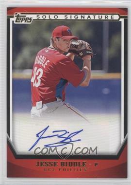 2011 Topps Pro Debut Solo Signature Autographs Gold [Autographed] #SSA-JB - Jesse Biddle /50