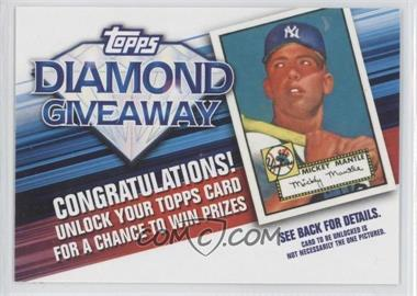 2011 Topps Redemptions Diamond Giveaway Code Cards #TDG-1 - Mickey Mantle