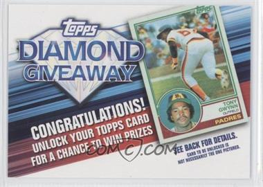2011 Topps Redemptions Diamond Giveaway Code Cards #TDG-11 - Tony Gwynn