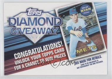 2011 Topps Redemptions Diamond Giveaway Code Cards #TDG-13 - Nolan Ryan
