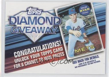2011 Topps Redemptions Diamond Giveaway Code Cards #TDG-13 - Nolan Ryan