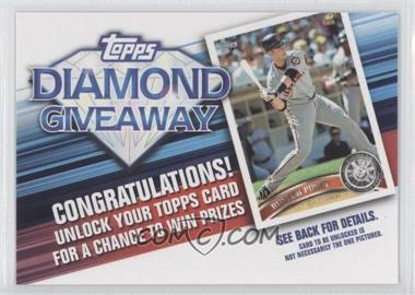 2011 Topps Redemptions Diamond Giveaway Code Cards #TDG-16 - Buster Posey
