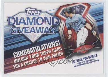 2011 Topps Redemptions Diamond Giveaway Code Cards #TDG-18 - Evan Longoria