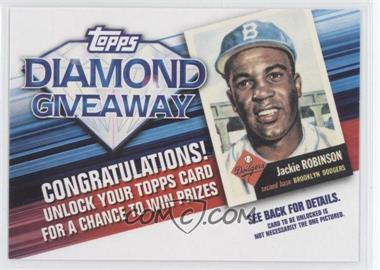 2011 Topps Redemptions Diamond Giveaway Code Cards #TDG-2 - Jackie Robinson