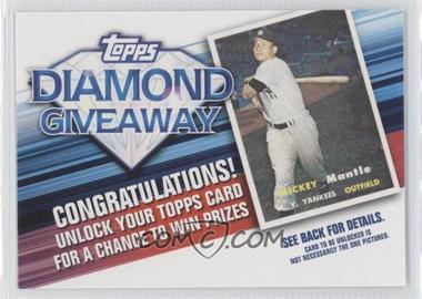 2011 Topps Redemptions Diamond Giveaway Code Cards #TDG-21 - Mickey Mantle