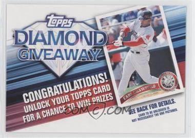 2011 Topps Redemptions Diamond Giveaway Code Cards #TDG-26 - Carl Crawford