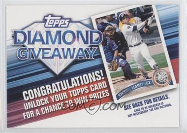 2011 Topps Redemptions Diamond Giveaway Code Cards #TDG-27 - Victor Martinez