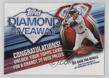 2011 Topps Redemptions Diamond Giveaway Code Cards #TDG-29 - Jose Bautista
