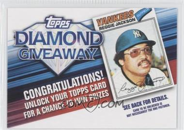 2011 Topps Redemptions Diamond Giveaway Code Cards #TDG-3 - Reggie Jackson