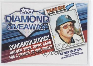 2011 Topps Redemptions Diamond Giveaway Code Cards #TDG-3 - Reggie Jackson