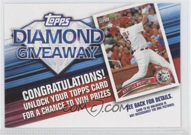 2011 Topps Redemptions Diamond Giveaway Code Cards #TDG-4 - Albert Pujols