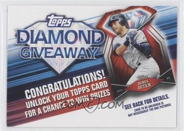 2011 Topps Redemptions Diamond Giveaway Code Cards #TDG-7 - Derek Jeter