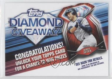 2011 Topps Redemptions Diamond Giveaway Code Cards #TDG-7 - Derek Jeter