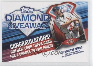 2011 Topps Redemptions Diamond Giveaway Code Cards #TDG-8 - Albert Pujols