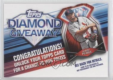 2011 Topps Redemptions Diamond Giveaway Code Cards #TDG-8 - Albert Pujols