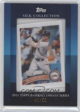 2011 Topps Silk Collection #BRBE - Brandon Belt /50