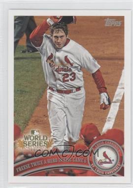 2011 Topps St. Louis Cardinals World Series Champions Hanger Pack [Base] #WS25 - David Freese