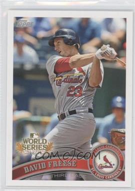 2011 Topps St. Louis Cardinals World Series Champions Hanger Pack [Base] #WS3 - David Freese