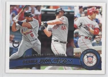 2011 Topps Target [Base] Throwback #318 - Albert Pujols, Adam Dunn, Joey Votto
