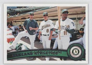 2011 Topps Target Throwback #204 - Oakland Athletics Team