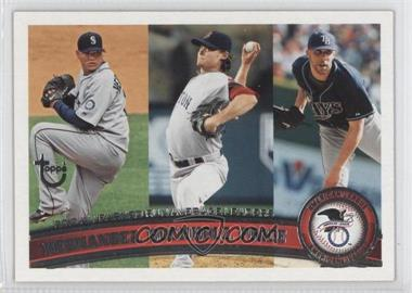 2011 Topps Target Throwback #235 - Felix Hernandez, Clay Buchholz, David Price
