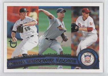 2011 Topps Target Throwback #82 - Josh Johnson, Adam Wainwright, Roy Halladay