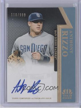2011 Topps Tier One - On the Rise Autograph - [Autographed] #OR-AR - Anthony Rizzo /999