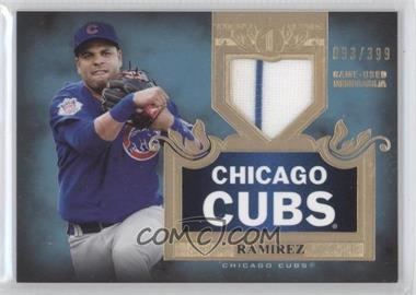 2011 Topps Tier One - Top Shelf Relics - Single Relics #TSR 12 - Aramis Ramirez /399