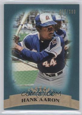 2011 Topps Tier One Blue Tier Four #44 - Hank Aaron /199