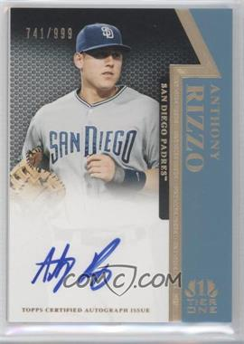 2011 Topps Tier One On the Rise Autograph [Autographed] #OR-AR - Anthony Rizzo /999