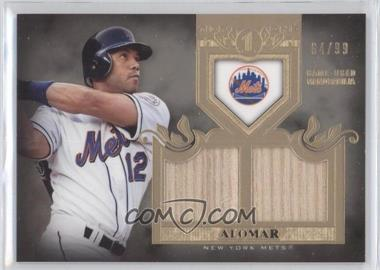 2011 Topps Tier One Top Shelf Relics Dual Relics #TSR 2 - Roberto Alomar /99