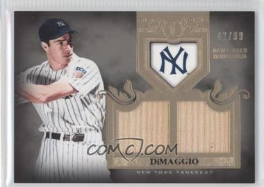 2011 Topps Tier One Top Shelf Relics Dual Relics #TSR 5 - Joe DiMaggio /99