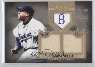 2011 Topps Tier One Top Shelf Relics Dual Relics #TSR 9 - Roy Campanella /99