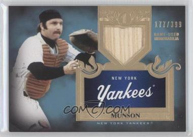 2011 Topps Tier One Top Shelf Relics Single Relics #TSR 3 - Thurman Munson /399