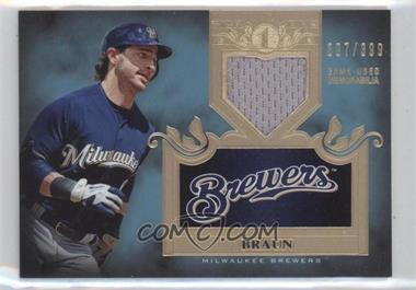 2011 Topps Tier One Top Shelf Relics Single Relics #TSR 8 - Ryan Braun /399