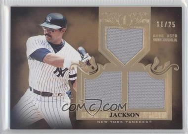 2011 Topps Tier One Top Shelf Relics Triple Relics #TSR 20 - Reggie Jackson /25