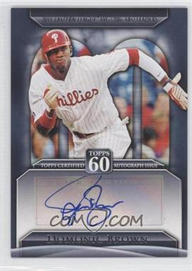 2011 Topps Topps 60 Autographs [Autographed] #T60A-DB - Domonic Brown