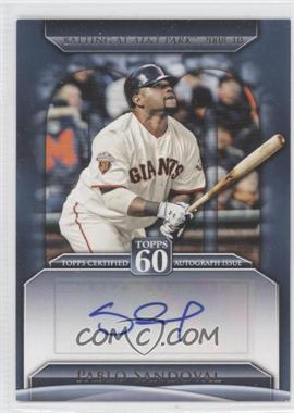 2011 Topps Topps 60 Autographs [Autographed] #T60A-PS - Pablo Sandoval