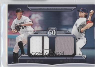 2011 Topps Topps 60 Dual Relics #T60DR-15 - Joe Johnson, Clay Buchholz /50