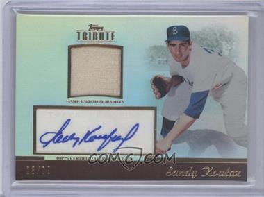 2011 Topps Tribute Autograph Relic #TAR-SK - Sandy Koufax /99