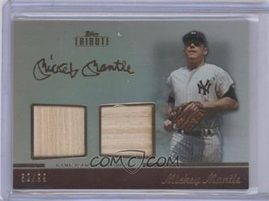 2011 Topps Tribute Dual Relic #TDR-MM - Mickey Mantle /99