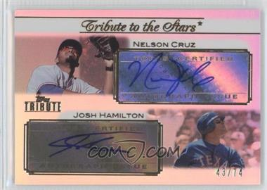2011 Topps Tribute Tribute to the Stars Dual Certified Autograph [Autographed] #TSA-LH - Josh Hamilton /74