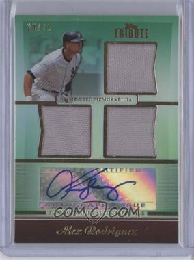 2011 Topps Tribute Triple Relic Green Certified Autograph [Autographed] #TATR-AR - Alex Rodriguez /75