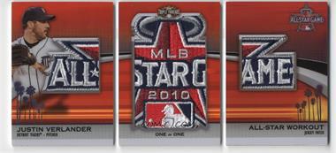 2011 Topps Triple Threads - All Star Jumbo Sleeve Patches #TTASJSP-41 - Justin Verlander /1