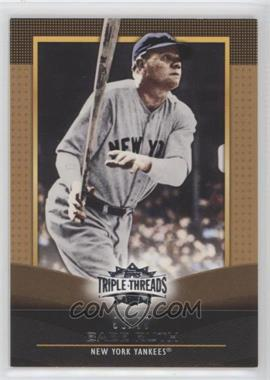 2011 Topps Triple Threads - [Base] - Gold #27 - Babe Ruth /99