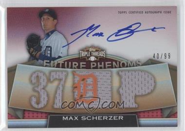 2011 Topps Triple Threads - [Base] #116 - Rookies & Future Phenoms - Max Scherzer /99