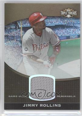 2011 Topps Triple Threads - Unity Relic - Sepia #TTUSR-156 - Jimmy Rollins /27