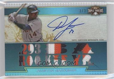 2011 Topps Triple Threads [???] #TTAR-205 - Austin Jackson